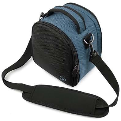 Laurel Compacts et Bridges Reflex Hybrides Etui Medium SLR Camera Bag pour appareil photo pour Canon EOS 700D / 1200D / 100D / 600D / Nikon D5300 / D3300 / D3200 photo numérique Réflex (Bleu)