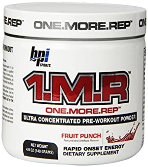 BPI Sports 1.M.R Ultra Concentrated Pre-Workout Powder, Fruit Punch