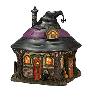#!Cheap Department 56 4025341 Snow Village Halloween from Department 56 Hilda's Witch Haunt Lit House, 7.1-Inch