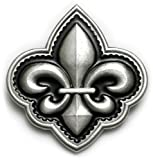 FLEUR DE LIS Belt Buckle Symbol Gothic French Iron Crest