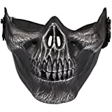LANDVO Skull Skeleton Airsoft Paintball Half Face Protect Mask