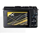 3 x atFoliX Schutzfolie Canon EOS M3 Folie Displayschutzfolie - FX-Antireflex blendfrei