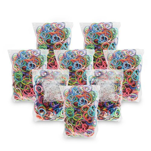 Chromo Inc Starburst Loom Band 2400 Pack & 100+ S-Clips JungleDealsBlog.com