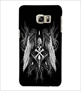 PrintDhaba Skull and Bone D-2197 Back Case Cover for SAMSUNG GALAXY NOTE 5 EDGE (Multi-Coloured)