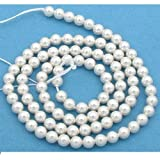 100 White Swarovski Crystal Pearl Beads Jewelry 4mm