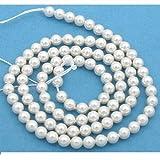 100 White Swarovski Crystal Pearl Beads Jewelry 4mm