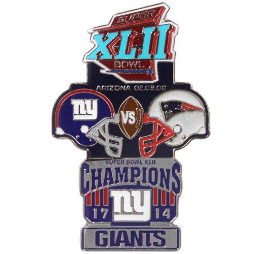New York Giants Historic Super Bowl Collectors Pin - Super Bowl Xlii Picture