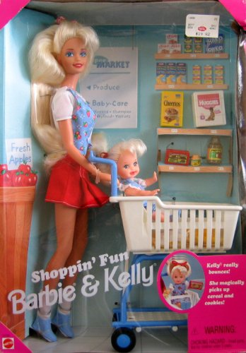 Barbie & Kelly - Shoppin' Fun Playset (1995) - Buy Barbie & Kelly - Shoppin' Fun Playset (1995) - Purchase Barbie & Kelly - Shoppin' Fun Playset (1995) (Shoppin' Fun Barbie & Kelly Playset, Toys & Games,Categories,Dolls,Playsets,Fashion Doll Playsets)