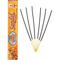 Gopura Kalasam Charcoal Powder Sandal Incense Sticks (24 Cm, Black, Pack Of 10)