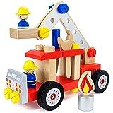 Wooden Wonders DIY Fire Engine Playset (34pcs.) by Imagination Generation