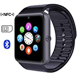 007plus GT08 Bluetooth Smart Watch with NFC Cell Phone Mate For Android (Full functions) Samsung S5 S6 Note 4 Note 5 HTC Sony LG and iPhone 5 5S 6 6 Plus (Partial functions)-Charcoal Grey