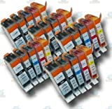 25 Chipped PGI-520 & CLI-521 Compatible Ink Cartridges for Canon Pixma MP620 Printer