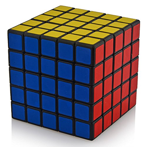 Macanudc The Cube Turns Quicker and More Precisely Than Original Rubiks Super-durable With Vivid Colors Best-selling Rubix Cube 5x5x5 Puzzle Cube Black