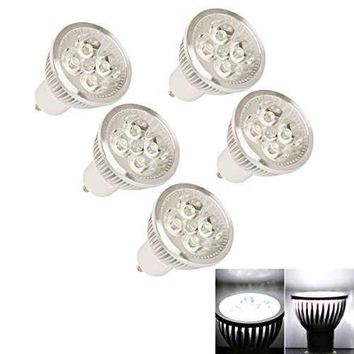 Spot Bulbs - 5X Gu10 4W 90Lm 5000K Pure White Light Led Spotlight Bulb (110V)