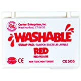 Stamp Pad Washable Red by Center Enterprises (Color: Red, Tamaño: 2-1/4 X 3-3/4 in)