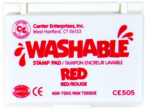 Stamp Pad Washable Red by Center Enterprises (Non Toxic Stamp Pad compare prices)
