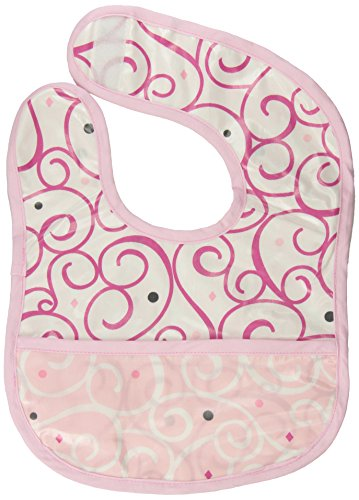Caden Lane Luxe Collection Swirl Coated Bib, Dark Pink - 1