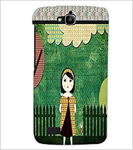 PrintDhaba Cartoon D-4232 Back Case Cover for HUAWEI HONOR HOLLY (Multi-Coloured)