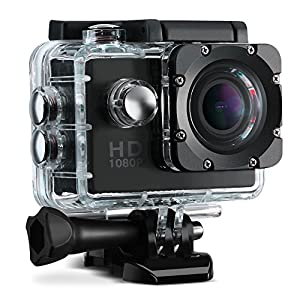 VicTsing Sports Action Camera, 2.0 Inch Waterproof Action Camera ?1080P HD+170 Degree Wide Angle Lens +16 FREE Accessories Kit) Camcorder with Long Battery Life