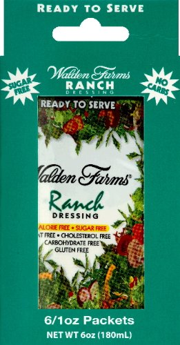 Walden Farms Ranch Salad Dressing Packets – Six 1 oz. packets per box