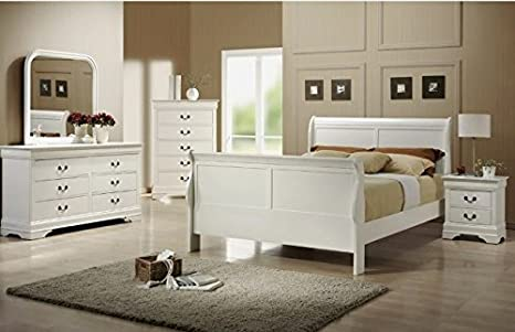 Louis Philippe White Bedroom Package