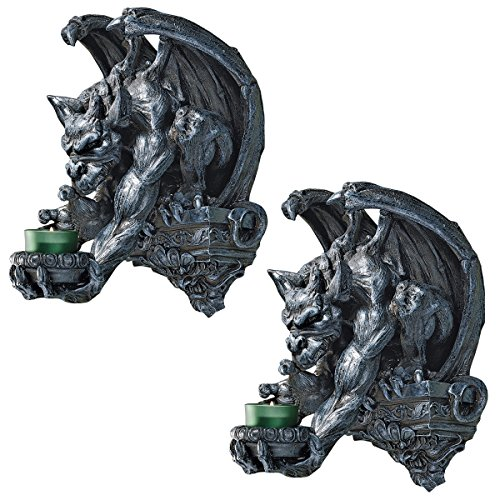 Design Toscano Whitechapel Manor Gargoyle Wall Sconce (Set of 2)