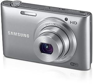 Samsung ST150F Fotocamera Digitale Smart 16.2 Megapixel, Zoom Ottico 5x, Display LCD da 7.6 cm (3 Pollici), Stabilizzatore di Immagine, Wi-Fi, Colore Argento