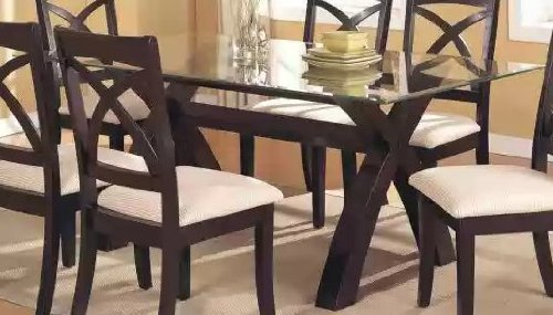 Cheap Glass Top Dining Table by Poundex (F2040)