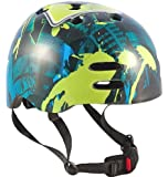 Sport Direct Boy's No Bounds BMX Helmet - Blue/Green, Size 55-58