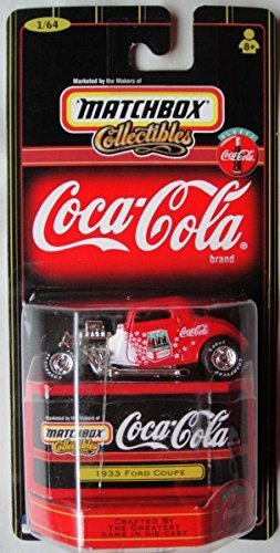 MATCHBOX COLLECTIBLE COCA-COLA RED 1933 FORD COUPE