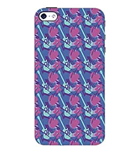 PrintDhaba Pattern D-5331 Back Case Cover for APPLE IPHONE 5 (Multi-Coloured)