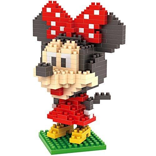 ZOZ LOZ Diamond Nanoblock Set Disney series Minnie Mouse Parent-child Games Building Blocks Childrens Educational Toy 280pcs