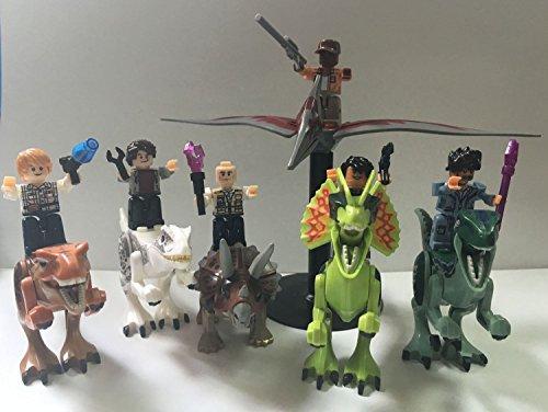 6pcs Minifigures Figure and Dinosaur Rex Tyrannosaurus