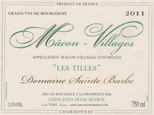 """2011 Jean-Marie Chaland """"Les Tilles,"""" Mâcon 750 Ml"""
