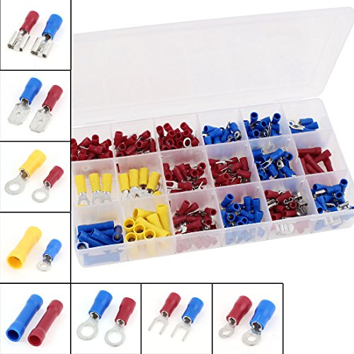 300 Pcs Wire Connector Insulated Crimp Terminal Assortment Kit