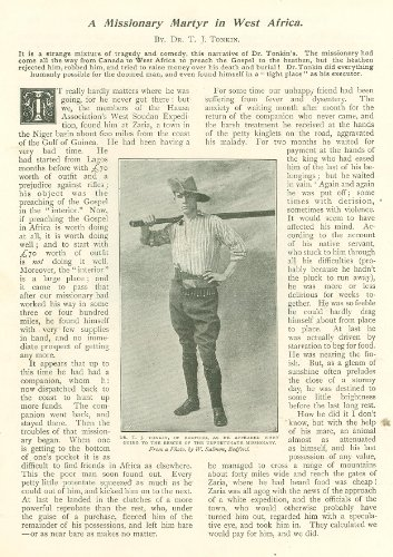 1900 Dr T J Tonkin Missionary Martyr South Africa