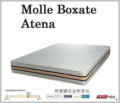 Materasso a Molle Boxate Mod. Atena Fodera Cotone Fascia TreD Altezza Cm. 24 - Ergorelax - matrimoniale - 160 cm x 195 cm