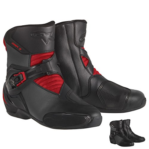 Alpinestars SMX-3 Men's Motorcycle Street Boots (Black, EU Size 49) (Street Motor Cycle Boots compare prices)