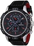 Festina Men's Chronograph Watch F16566/7 with Other Strap and Black Dial