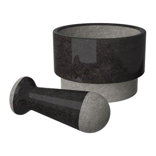 IKEA(イケア) ADELSTEN 20201620 乳棒&乳鉢, 大理石 ブラック