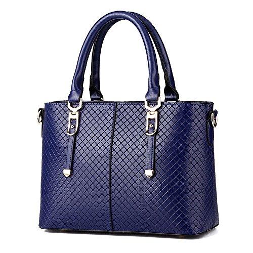Koson-Man-Borsa Vintage da donna, borsetta per impugnatura, Blu (Blu) - KMUKHB286