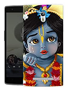 """Humor Gang Krishna Bal Roop - - Indian Hindu God Printed Designer Mobile Back Cover For """"Oppo Find 7"""" (3D, Matte, Premium Quality Snap On Case)"""