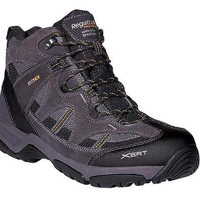 Regatta Cross Stones X-LT Waterproof Hiking Boot (Iron Black, 7)