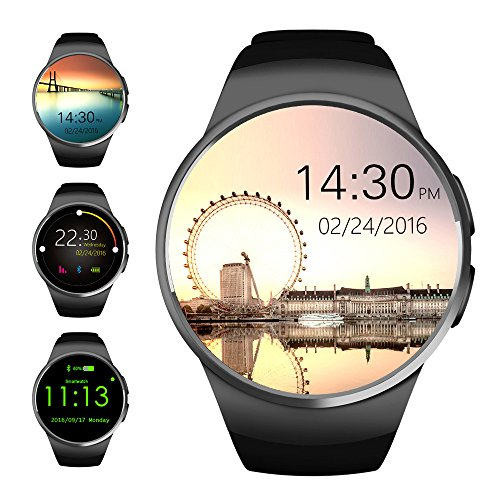 Evershop-Bluetooth-Smart-Watch-13-inches-IPS-Round-Touch-Screen-Smartwatch-Phone-with-SIM-Card-and-TF-Card-Slot-with-Sleep-Monitor-Heart-Rate-Monitor-and-Pedometer-for-IOS-and-Android