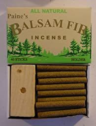 40 Balsam Sticks and Holder - Paine\'s Fir Balsam Incense