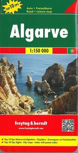 Algarve, mapa de carreteras. Escala 1:150.000. Freytag & Berndt.: Road Map (Auto karte)