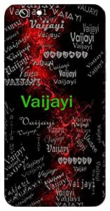 Vaijayi (Victor) Name & Sign Printed All over customize & Personalized!! Protective back cover for your Smart Phone : Apple iPhone 7