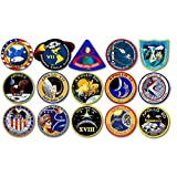 American Vinyl Sheet of 1.5 inch Tall All Apollo Mission Logos Stickers (NASA Scrapbook Laptop Small Insignia Patch Art)