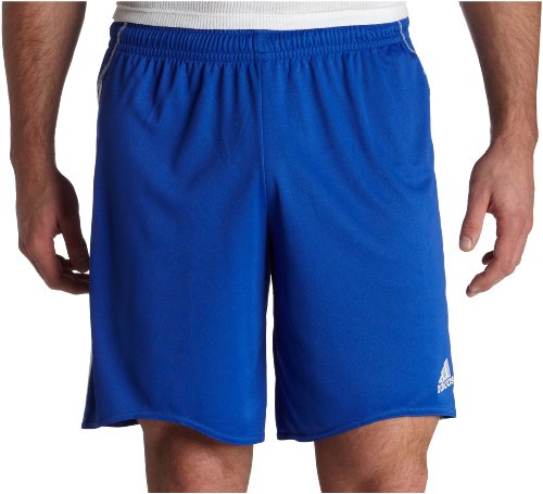 adidas Men's Equipo Short (Cobalt, White, Large)