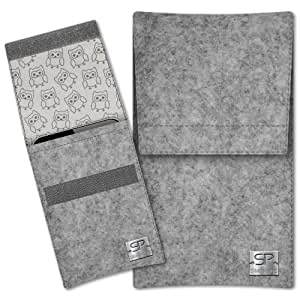 SIMON PIKE Hülle Handytasche Sidney 11 grau für Apple iPhone 5S 5C 5 aus Filz